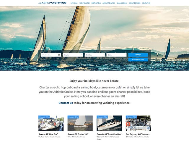 Aeroyachting | Web application development