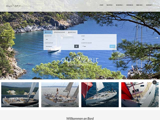 Auszeit Yachtcharter | Web application development