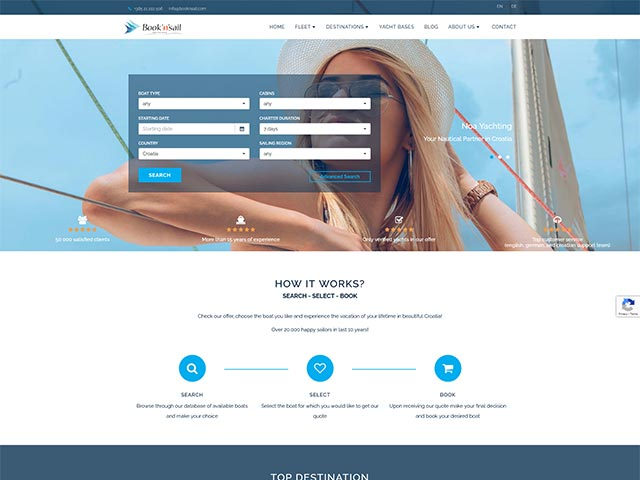 Book'n'Sail | Web application development