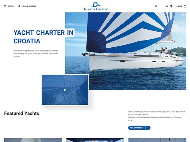 Dalmatia Charter | Web application development