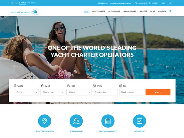 Navigare Yachting | Web application development