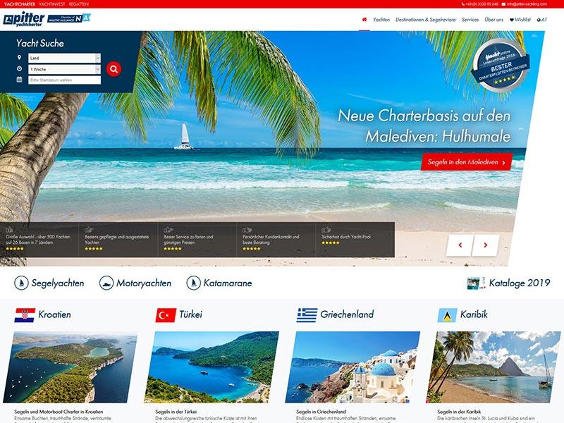 Pitter Yachting | Razvoj web aplikacija