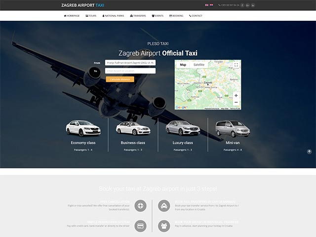Taxi Zagreb | Web application development
