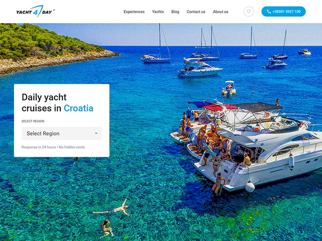 Yacht4day | Web application development