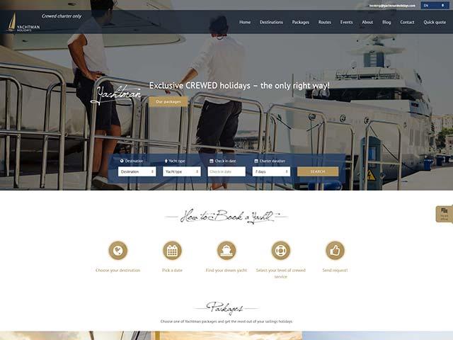 Yachtman Holidays | Razvoj web aplikacija